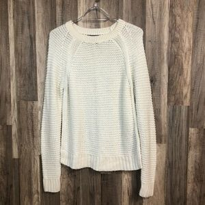 Banana Republic Cream Knit Sweater S